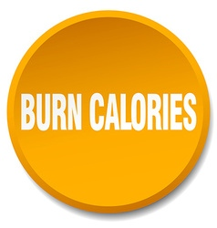 Burn calories orange round flat isolated push vector