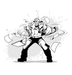 businessman in a rage vector image