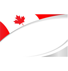 Canadian flag maple leaf symbol frame banner vector