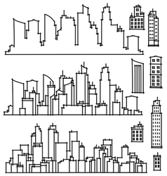 city vector image