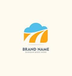 Cloud abstract sky logo vector