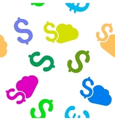 Cloud Banking Flat Seamless Pattern vector image