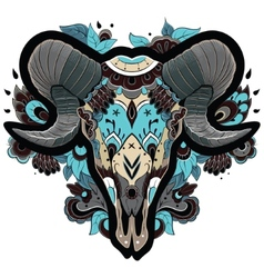 Cool ram skull vector