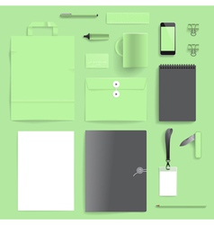 Corporate identity mock-up template vector