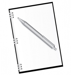 Diary and pen vector