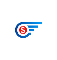 dollar round america logo vector image
