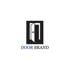 door logo template vector image