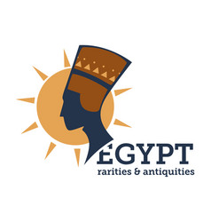 egypt rarities and antiquity niferititi bust and vector image