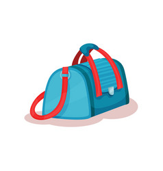 flat icon of large travel bag with red vector image