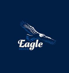 Flying eagle vector