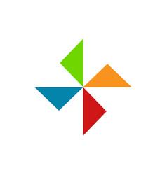 geometrical triangle shape diversity symbol vector image