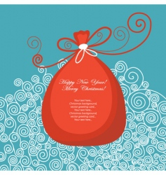 greeting card with gift bag vector image
