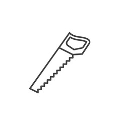 hacksaw concept outline icon hand saw vector image