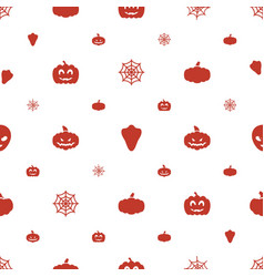 Halloween icons pattern seamless white background vector