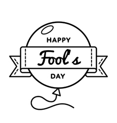 Happy Fools day greeting emblem vector