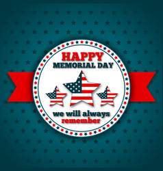 happy memorial day greeting card vector image