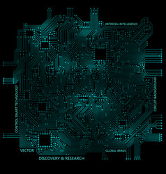 High tech circuit board technology computer vector
