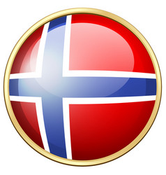 icon design for norway flag vector image