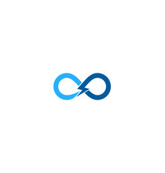 Infinity power logo icon design vector