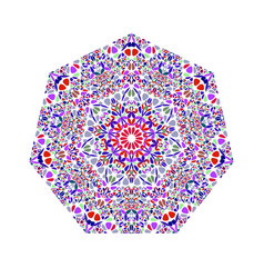 Isolated geometrical floral mosaic ornament vector