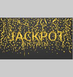 jackpot big win vector image