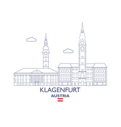 klagenfurt city skyline vector image