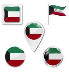 Kuwait flag flag flag picture vector