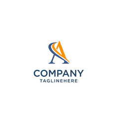letter a luxury swoosh corporate logo design vector image
