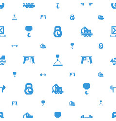 Lifting icons pattern seamless white background vector