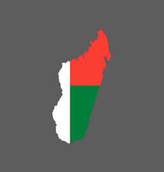 Madagascar flag and map vector