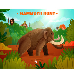 mammoth hunt vector image