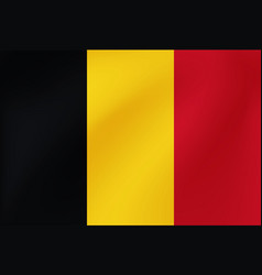 national flag belgium background vector image