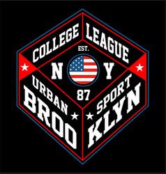 Ny brooklyn urban sport vector