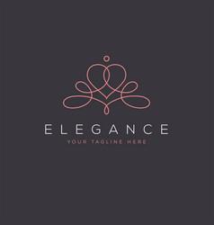 ornate feminine elegant abstract logo vector image