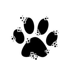 paw print as a mosaic vector image