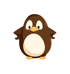 penguin animal standing with hands on sides vector image