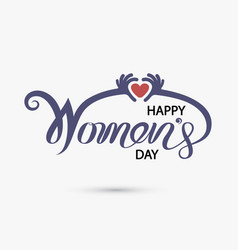 pink happy womens day typographical design vector image