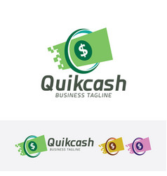 quick cash logo vector image