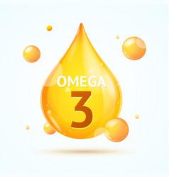 realistic 3d detailed omega fat drop vector image