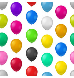 realistic detailed 3d color balloons seamless vector image