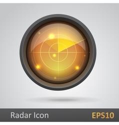 Realistic radar icon vector image