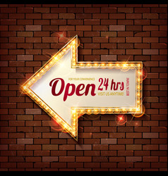 red frame arrow open vector image