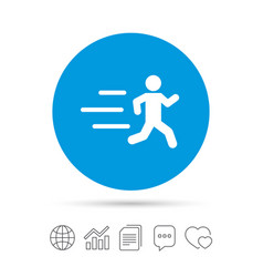 Running sign icon human sport symbol vector
