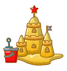 sand castle icon cartoon style vector image