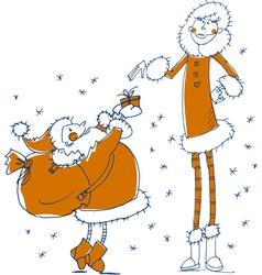 santa gift vector image