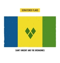 Scratched flag of Saint Vincent and the Grenadines vector