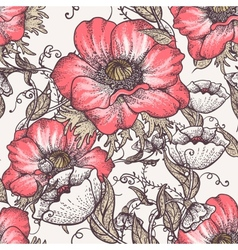Seamless floral vintage pattern vector