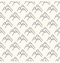seamless geometric pattern with mountain vector image