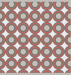 Seamless pattern with decorative shapes vector