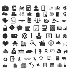 set black universal web and mobile icons vector image